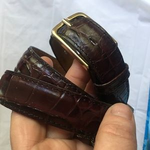Burgundy Leather Belt-FREE WITH PURCHASE